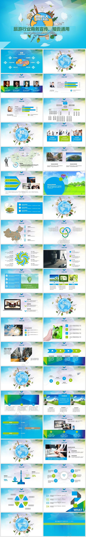 旅游电子商务ppt_清新创意旅游行业商务宣传PPT模板-椰子办公
